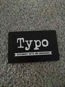 Typo gift cards Giralang Belconnen Area Preview