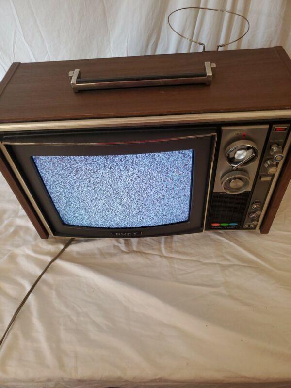 "Sony Trinitron KV-1212 12"" Color TV Television Retro Gaming Game Room Vintage"