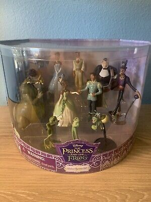 NEW Disney The Princess And The Frog Deluxe Figurine Set 11 Characters Tiana