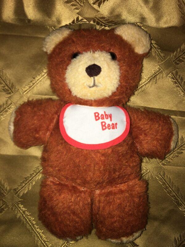 1984 FISHER PRICE BABY BROWN TEDDY BEAR # 970 STUFFED ANIMAL PLUSH TOY 10 inch