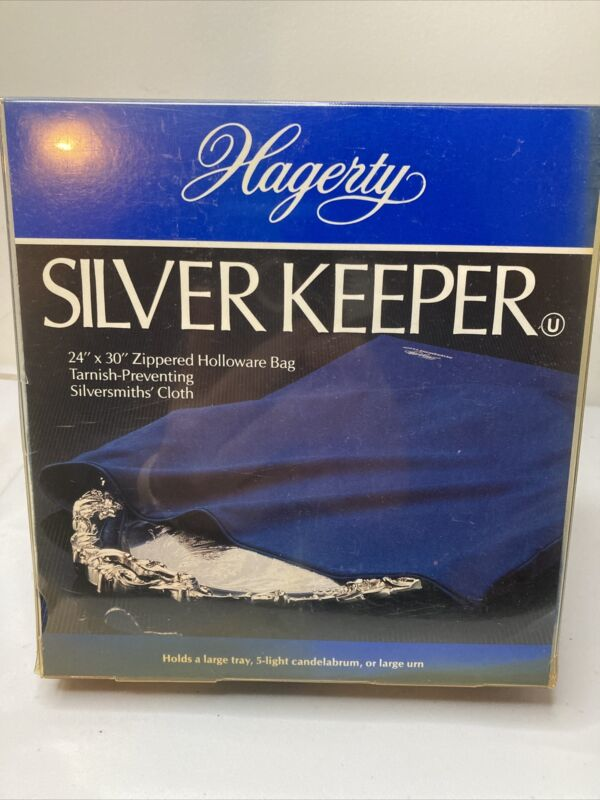 "NOS NIB Hagerty Silverkeeper Zippered Holloware Storage Bag Tarnish 24X30"""