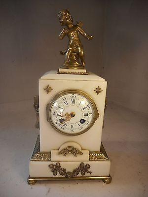 Antique French Bronze Mounted Striking Mantel Clock   ref1966