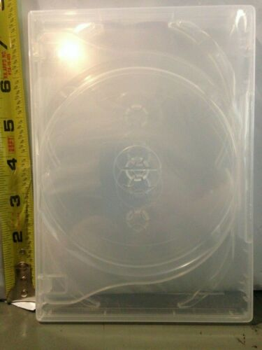 "1 New  Premium Clear Multi Five Discs Media 5 DVD Case, Standard 1/2"" 14mm"