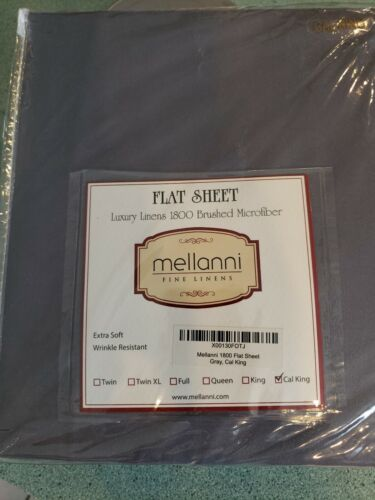 Mellanni Fine Linens California King Flat Sheet 1800 Brushed