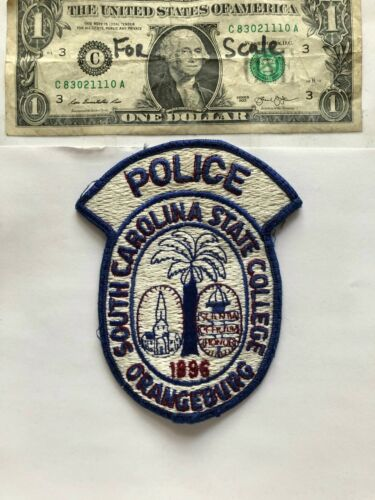 Very Rare Orangeburg South Carolina Police Patch Pre-sewn great condition