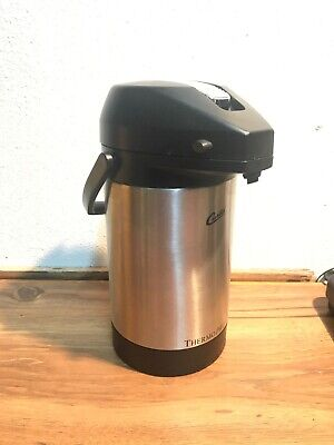 Wilbur Curtis Thermo Pro Coffee Stainless Steel Airpot 2.5 Liter Snap On Lid