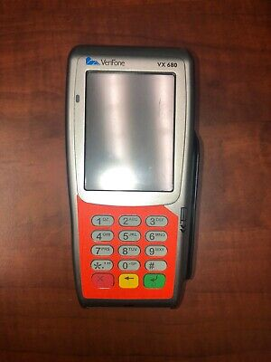 Verifone Vx680 Credit Card Charger With Emv Chip Locked With Worldpay