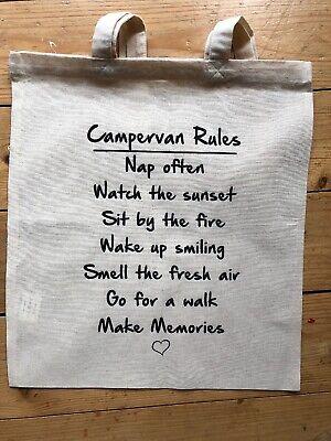 SALE Campervan Camper VW Rules Holiday Novelty Gift Large Tote Bag Christmas