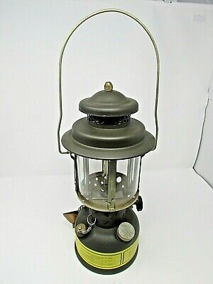 EXC SMP DATED 1984 MILITARY LANTERN NO PAINT LOSS COMPLETE WITH 6 EXTRA MANTELS