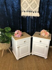Gorgeous Pair of Restored Bedside Tables
