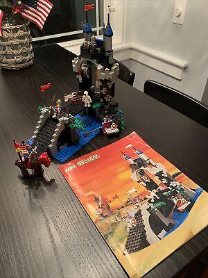 Vintage Lego System 6078 Castle Knights Royal Drawbridge 100% Complete Minifigs!