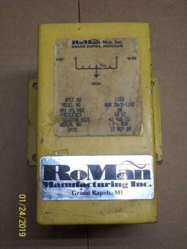 ROMAN RGR 28/2-1153 GROUNDING REACTOR 28V