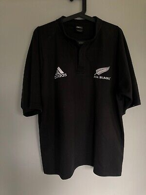 New Zealand All Blacks Adidas Rugby Shirt Size Large