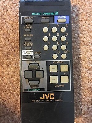JVC RM-C421 Master Command TV Genuine Replacement Remote Control