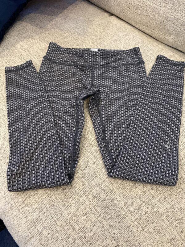 Girls IVIVVA Gray/Blk Weave Pattern Yoga Pants Leggings Size 10