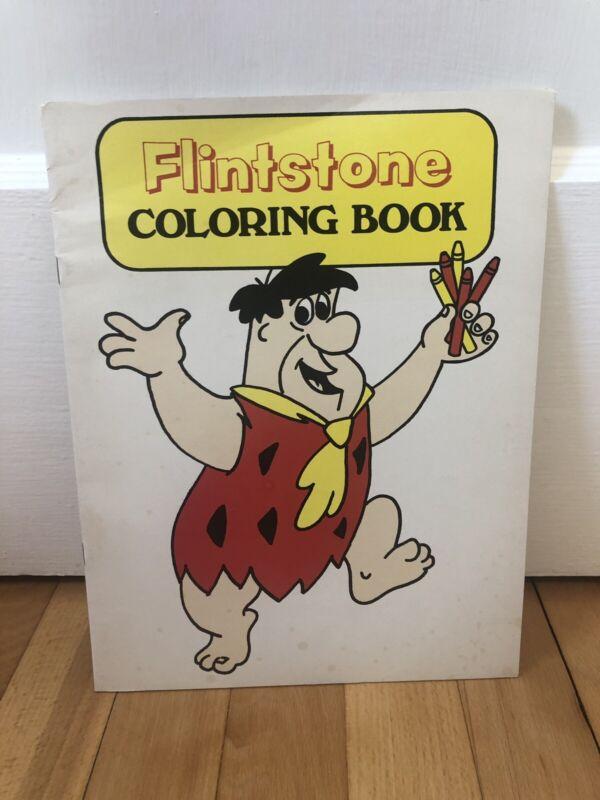 Vintage New 70s Hanna Barbera The Flintstones Coloring Book Old Stone Bank Rare