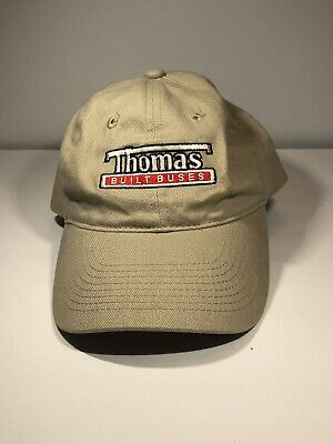 Thomas Built Buses Easy Care Tan Khaki Embroidered Logo Cap/Hat for sale  Shipping to India