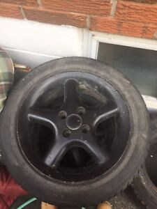 4x100 rims with tires