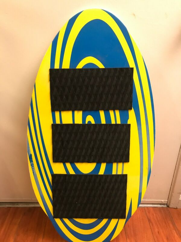 """Blue & Yellow Boogie Board w/ Traction Pad Bar Deck Grip Tail Mat 37"""" X 19 3/7"""""""