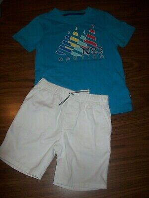 Toddler Boys NAUTICA 2-Pc Shirt Shorts Outfit  - Size 4T - New NWT MSRP $59.50