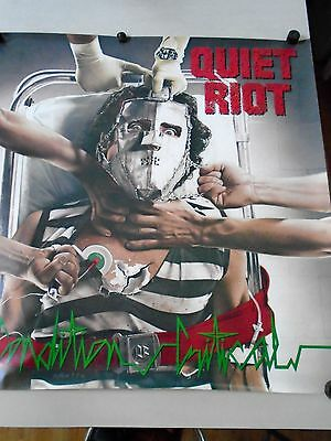 "Quiet Riot - Huge- Original Vintage Promo Poster ""1984"" / VG new cond. 36 x 36"""