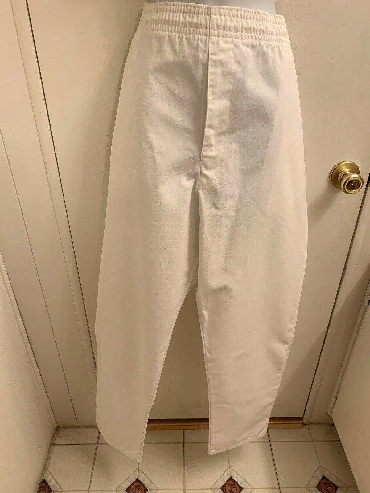 NWT LANDAU Men's White Work Uniform Dress Pants U.S.A Made