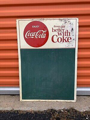 Vintage Things Go Better With Coke Chalk Board Menu Board 28x20