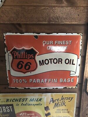 Vintage Porcelain Gas And Oil Sign Very Rare Great Shape For The Age