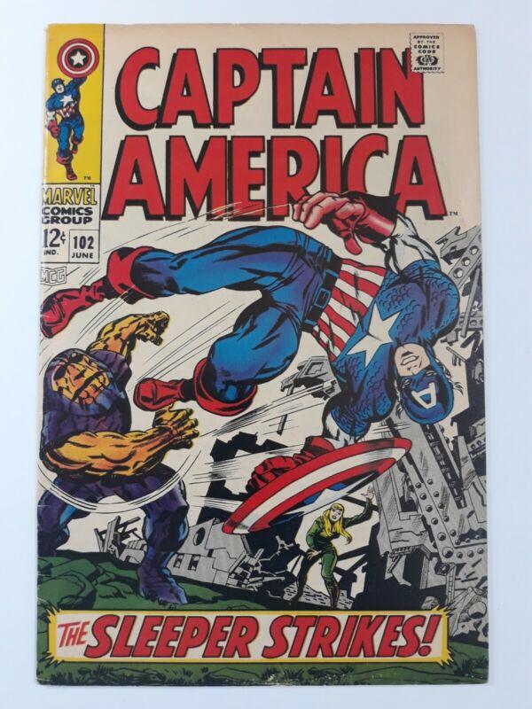 Captain America #102 (Jun 1968, Marvel) See description