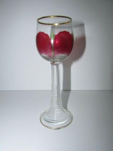 Theresienthal Meyrs Neff Art Nouveau Enameled Wine Glass 509
