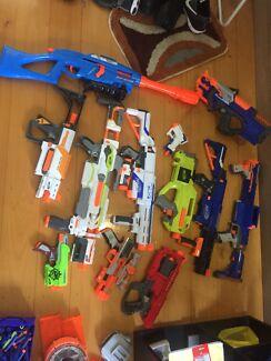 Nerf Guns and Bullets (12 guns and 200+ Bullets)