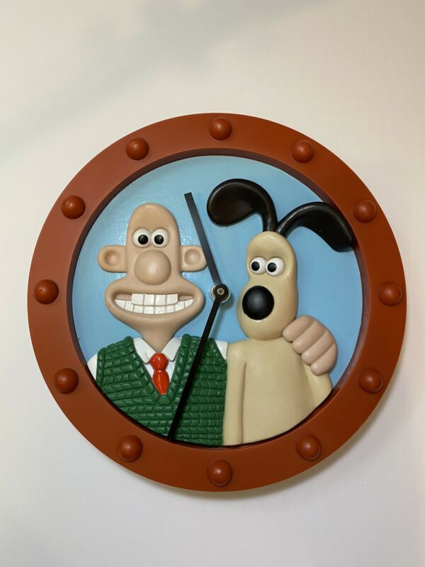 Vintage 1997 Wallace And Gromit Wall Clock EUC Works Perfectly