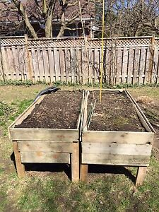 Raised planter boxes $150