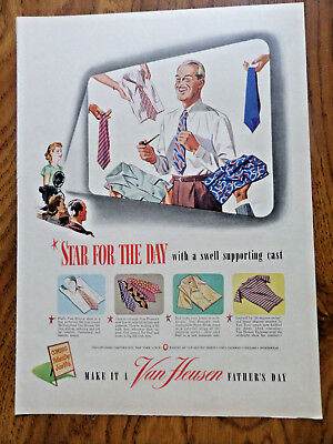 1946 Van Heusen Shirts Ad Start Father's Day with swell Supporting Cast
