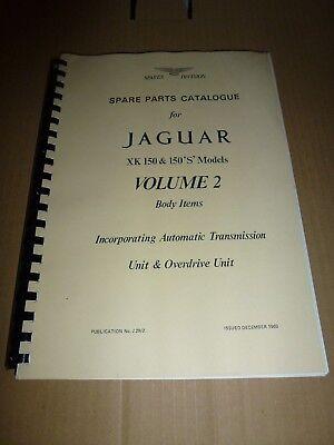 Jaguar XK150 Spare Parts Catalogue Volume 2