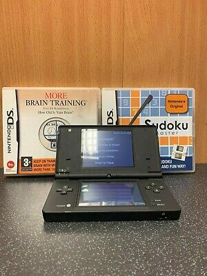 (NE6) Nintendo DSi Matte Black Handle Console With Games Bundle