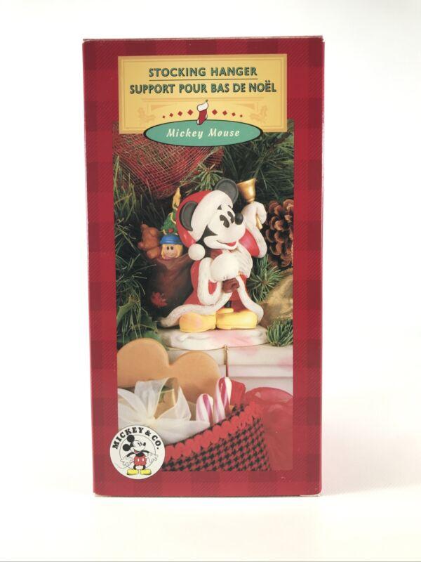 "VTG Disney Mickey Mouse & Co. Christmas Santa Mickey 7"" Stocking Hanger Holder"