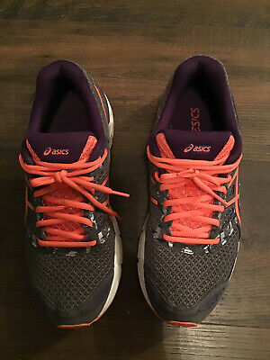 Aasics Gel Excite 4 Women's Size 9.5 Gray/Purple/Pink Running Shoe Preowned