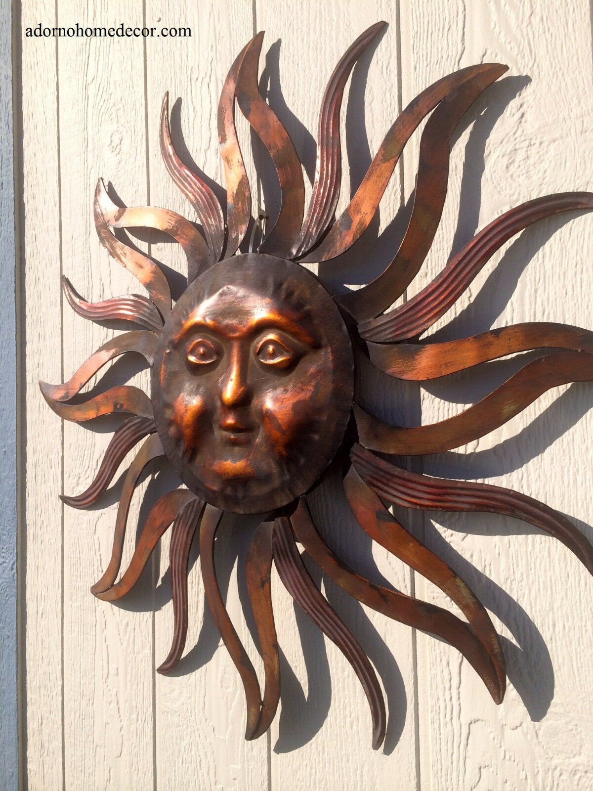 פסלי קיר Metal Sun Wall Decor Rustic Garden Art