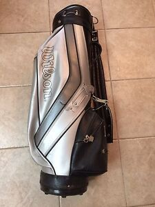 Black & Silver Wilson Golf Bag Excellent Condition