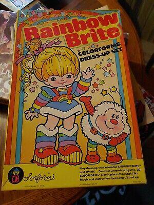 Vtg Rainbow Brite Twink Colorforms Dress Up Set 1983 Hallmark Cards Play Set NIB