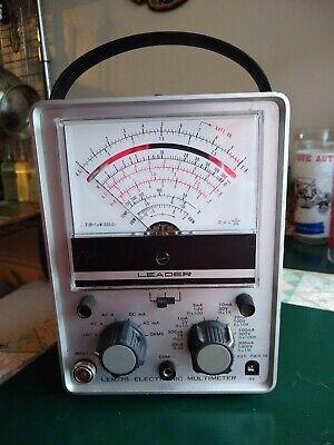 Leader Electronic Multimeter Lem-75 Made In Japan Missing Back Cover Wprobes