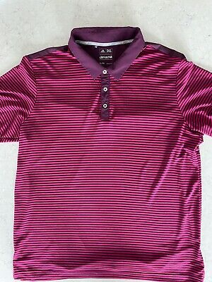 MENS PURPLE/PINK CLIMACHILL ADIDAS GOLF POLO TOP SIZE XL