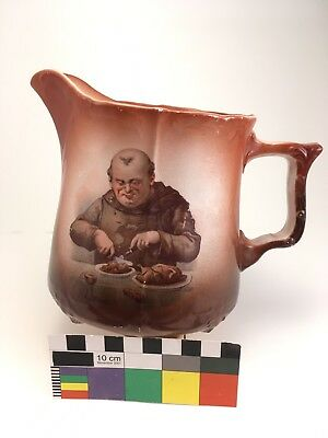 Antique S. B. Co. Sebring Pottery Company MONK FRIAR Pitcher Jug