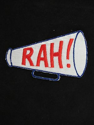 #4450 Megaphone RAH! Cheerleader Embroidery Iron On Applique Patch