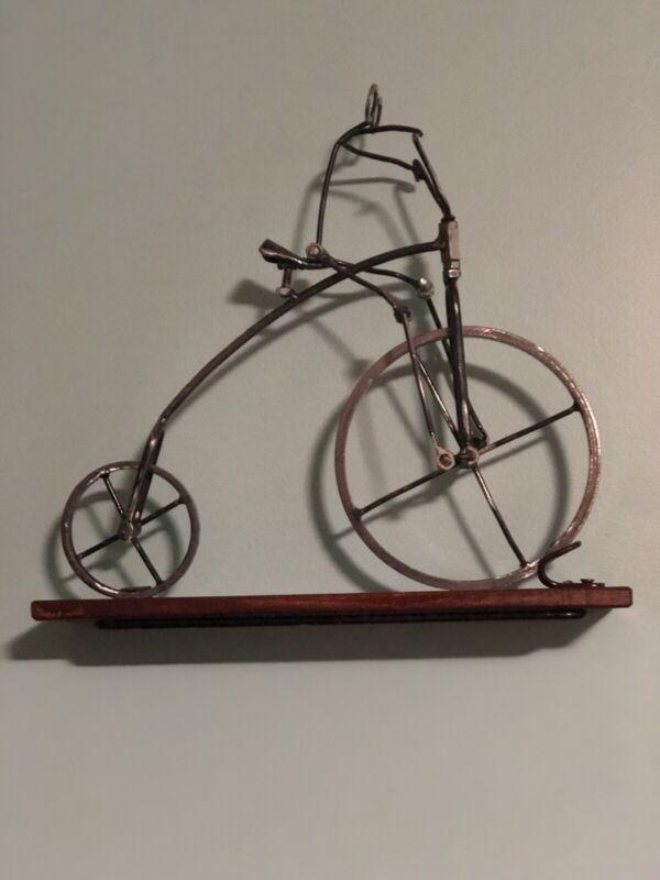 Metal Bike Sculpture Handmade Iron Model Statue Collectible Art