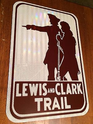 """Lewis and Clark Road Sign - 18""""x12""""  -- UNUSED DOT specs - traffic route highway"""