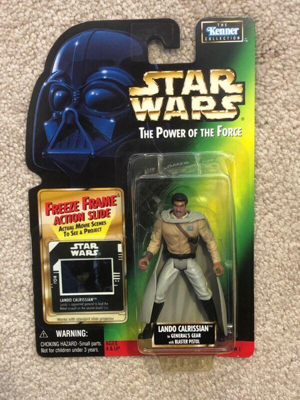 "1996 Kenner Star Wars POTF Lando Calrissian NIB Red Card 3.75/"""