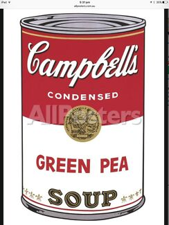 ICONIC ANDY WARHOL SOUP CAN IMAGES - 3 Large High Quality Prints.