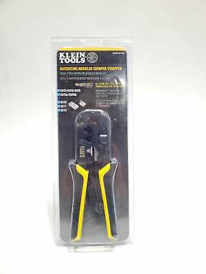 Brand New Klein Tools Ratcheting Data Cable Crimper Stripper Cutter